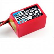 NVISION RX 2500 7,4V HUMP LIPO W/UNI PLUG